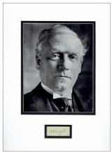 Herbert Henry Asquith Autograph Signed Display